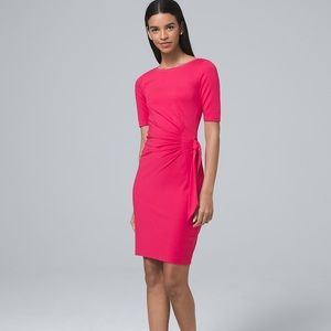 WHBM Pink Side-Tie Shift Dress - size S, NWT